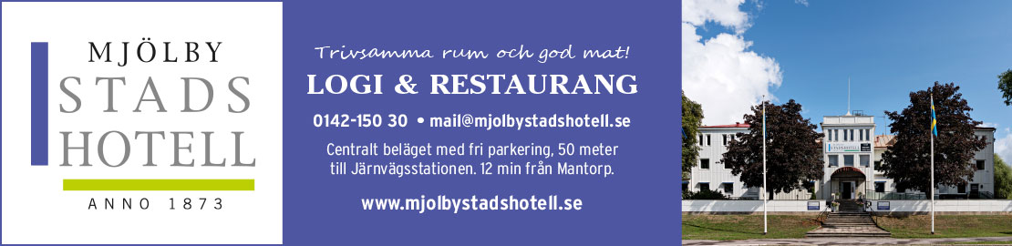 Mjölby Stadshotell - startsida